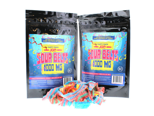 JGO CBD Gummies: 1000 MG Strength: Sour Belts Party Pack
