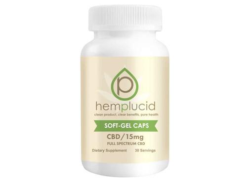 Hemplucid Soft-Gel Full Spectrum Capsules 15mg Per Capsule