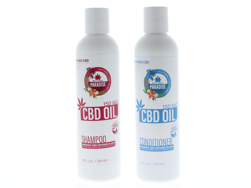 Natural Paradise 150mg CBD Shampoo and Conditioner