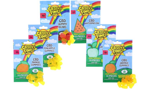 Groovy Fine 300mg CBD Gummies: Sampler 6 Pack