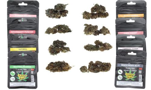 GroovyFine CBD Hemp Flower 1G Master Variety Pack