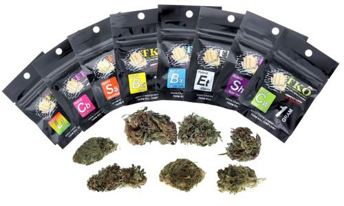TKO CBD Hemp Flower 1G Master Variety Pack