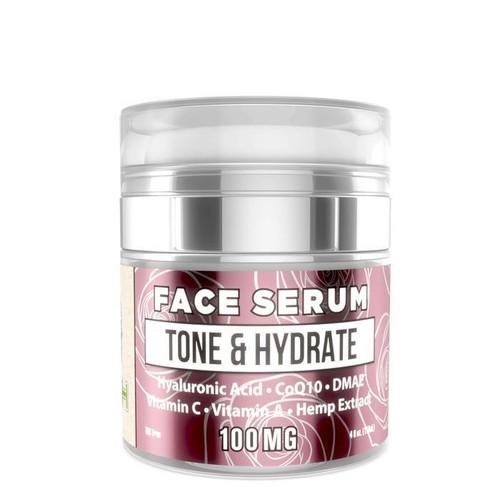 ERTH Hemp Tone & Hydrate Anti Aging Face Serum 4 oz Jar