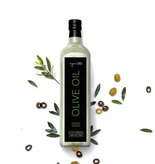 Premium Organic 500mg CBD Extra Virgin Olive Oil by OrganiCBD