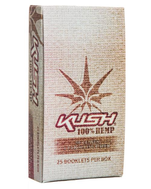 """Kush 100% Hemp 1 1/4"""" Rolling Papers - 25 Units"""