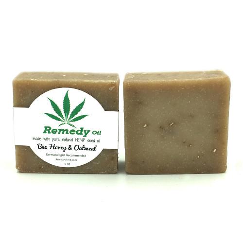 Remedy Oil CBD Bee Honey & Oatmeal Hemp Seed Oil Soap Bar