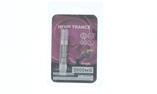 2000mg CBD Prefilled Cartridges from Hemptrance 1mL-GRAPE