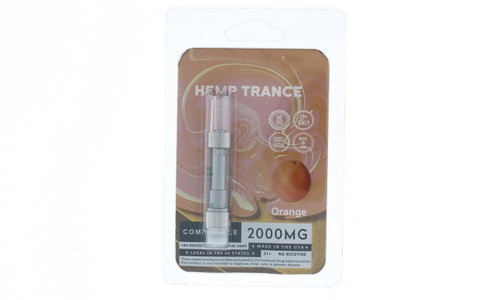 2000mg CBD Prefilled Cartridges from Hemptrance 1mL-ORANGE