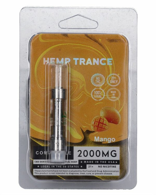 2000mg CBD Prefilled Cartridges from Hemptrance 1mL-MANGO