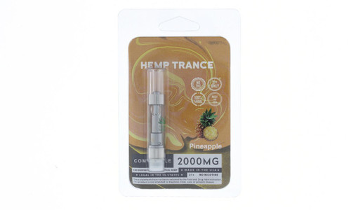 2000mg CBD Prefilled Cartridges from Hemptrance 1mL-PINEAPPLE
