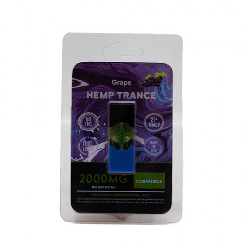 HEMPTRANCE CBD PODS 2000MG 1PK - GRAPE