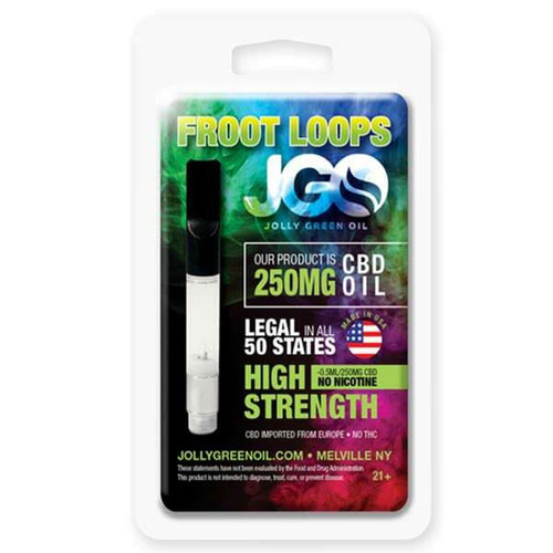 JGO CBD PRE-FILLED CBD CARTRIDGE: 250 MG Strength (FROOT LOOPS)