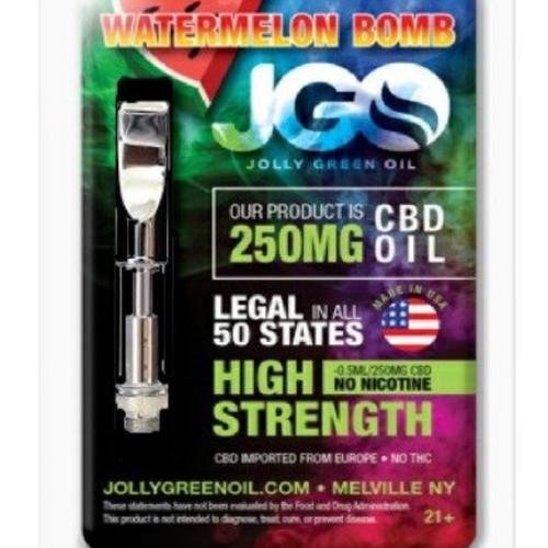 JGO CBD PRE-FILLED CBD CARTRIDGE: 250 MG Strength (WATERMELON BOMB)