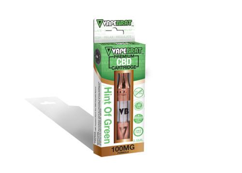 Hint Of Green CBD Cartridge by VapeBrat