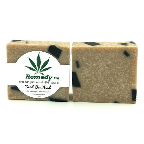 Remedy Oil CBD Dead Sea Mud Hemp Seed Oil Soap Bar