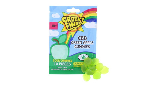 Groovy Fine 300mg CBD Gummies: Green Apple