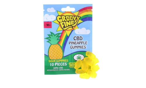 Groovy Fine 300mg CBD Gummies: Pineapple