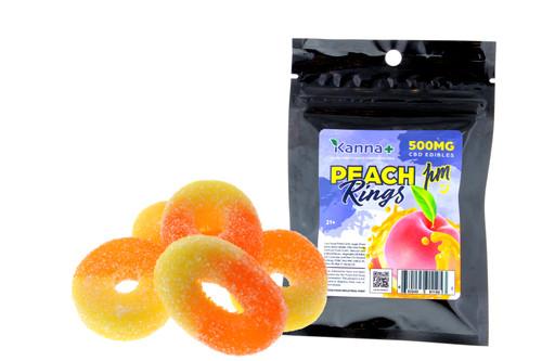 Kanna 500mg PM CBD Gummy Peach Rings with Melatonin