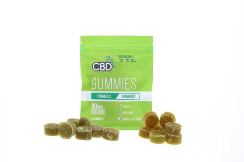 CBD Gummies By CBDfx 40MG - 8 Count Pouch - Turmeric & Spirulina