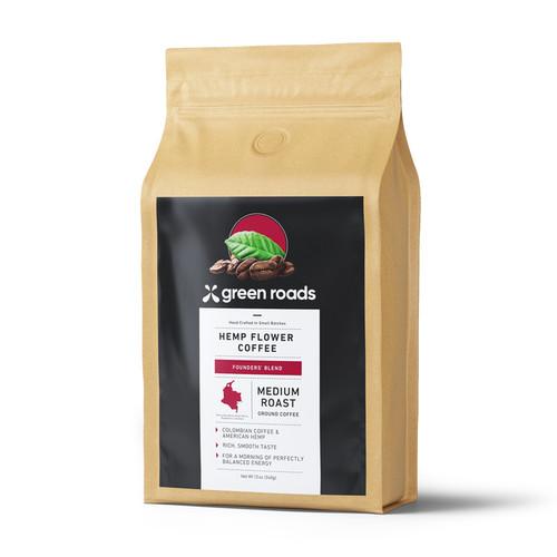 Green Roads Hemp Flower Coffee 12 oz - Medium Roast Founder's Blend