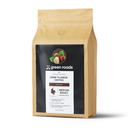 Green Roads Hemp Flower Coffee 12 oz - Medium Roast Hazelnut