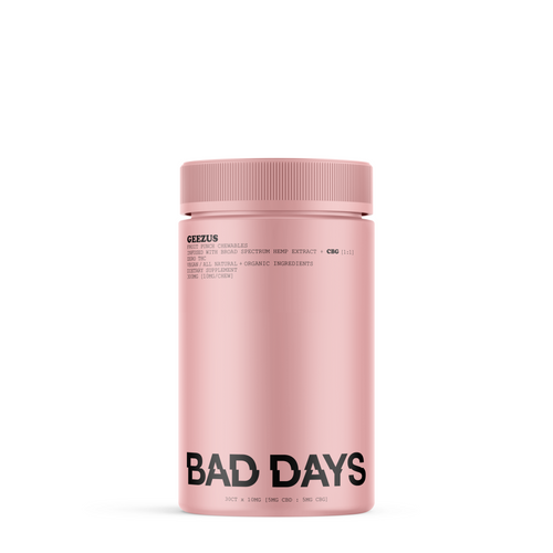 Bad Days GEEZUS 30 Count 300mg Broad Spectrum CBD + CBG Gummies