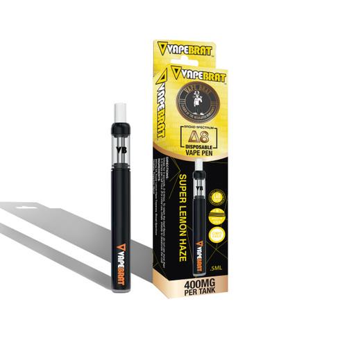VapeBrat Disposable Delta 8 Vape Cartridge: Super Lemon Haze 400mg
