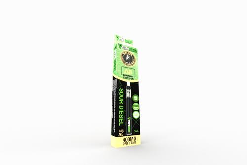 VapeBrat Disposable Delta 8 Vape Pen: Sour Diesel 400mg