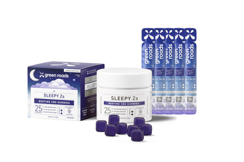 Sweet Dreams Kit CBD Gummies Sleepy Z's and Tincture Nightly Dose (850mg Total)