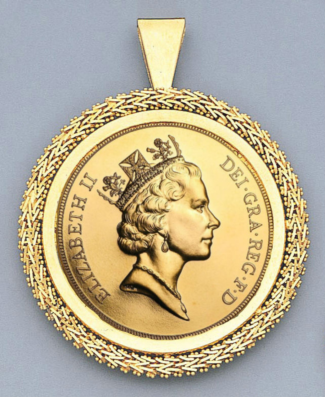 solid gold handmade double full sovereign necklace