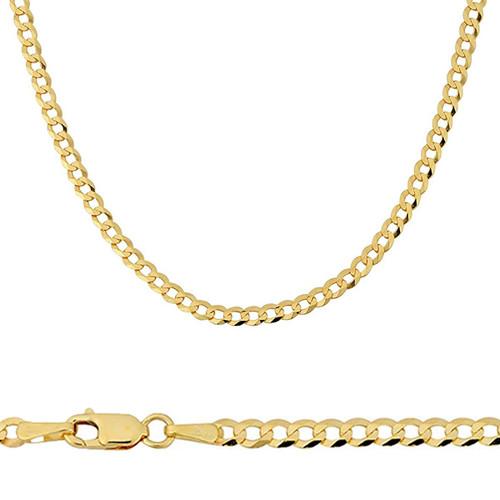 10k Yellow Gold Curb Link Chains Sarraf Com