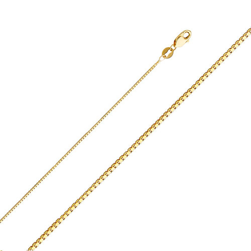 Details about  /1.3mm Solid Curb Chain Necklace 14k White Gold 20 Inch