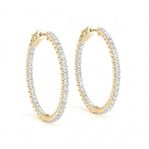 25mm 1 Inch Details about  /2.5mm Twisted Round Hoop Earrings in 14k Yellow Gold