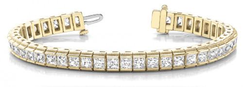 IJ| SI 9.25 inches 0.28 cttw Round-Cut-Diamond 18K Yellow Gold identification-bracelets Size