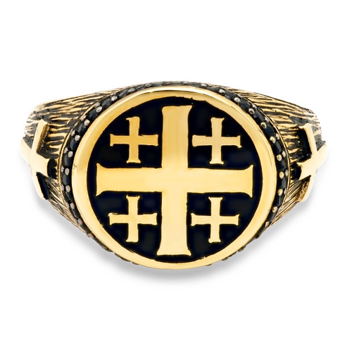 Details about  /10k or 14k Yellow Gold White CZ 4.0mm Length Saint Lazarus Charm Pendant
