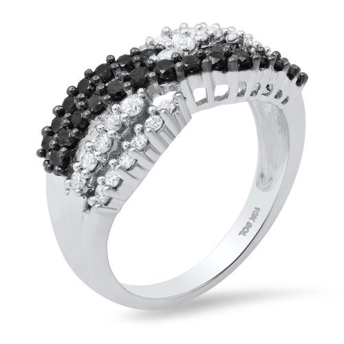 Details about  /Dome Titanium Ring 0.15ctw Blue Sapphire /& Black Diamond 3-Stone Wedding Band