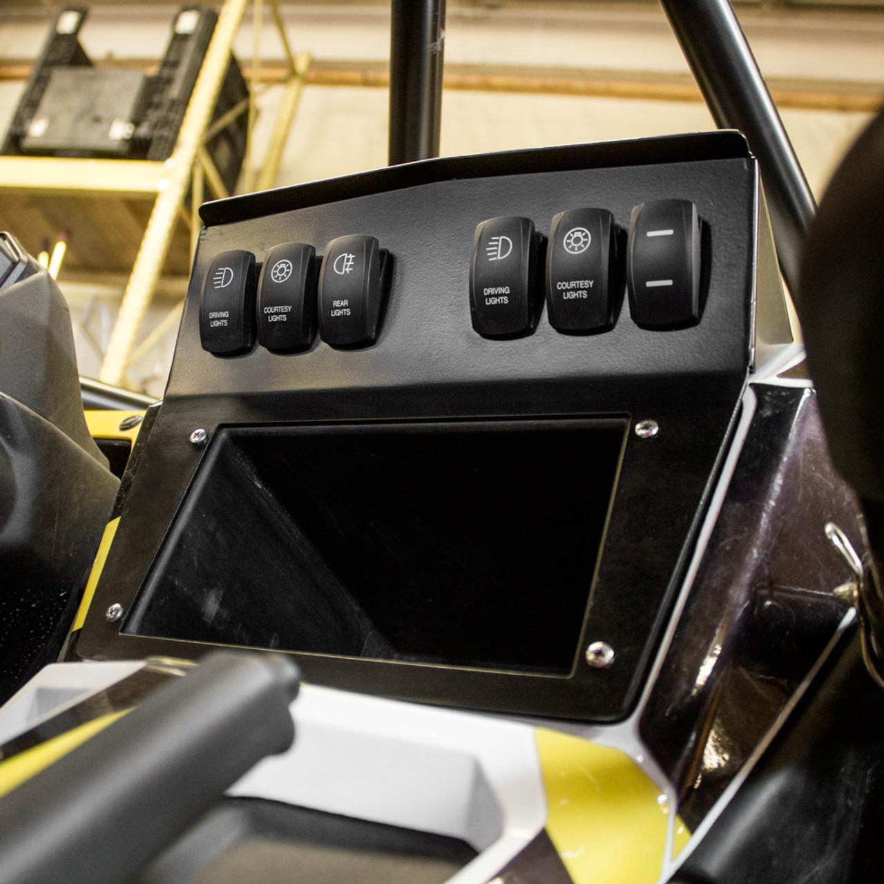 NEW 2016 Yamaha YXZ1000R BLACK DASH PANEL 5 FREE BACK-LIT SWITCHES