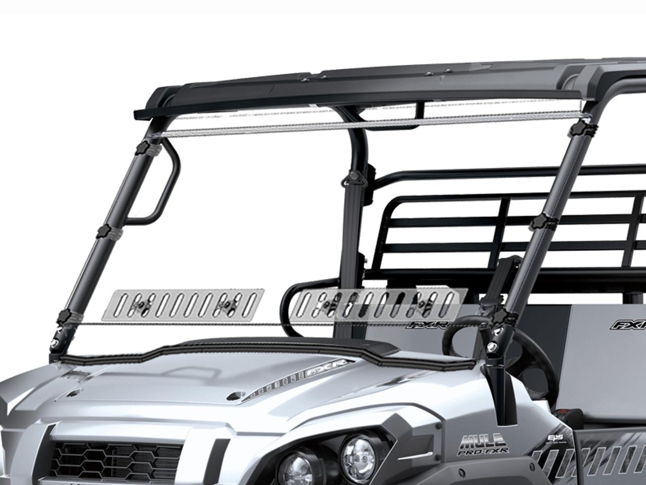 Kawasaki Mule Pro Fxr Dual Vented Windshield Whardcoat