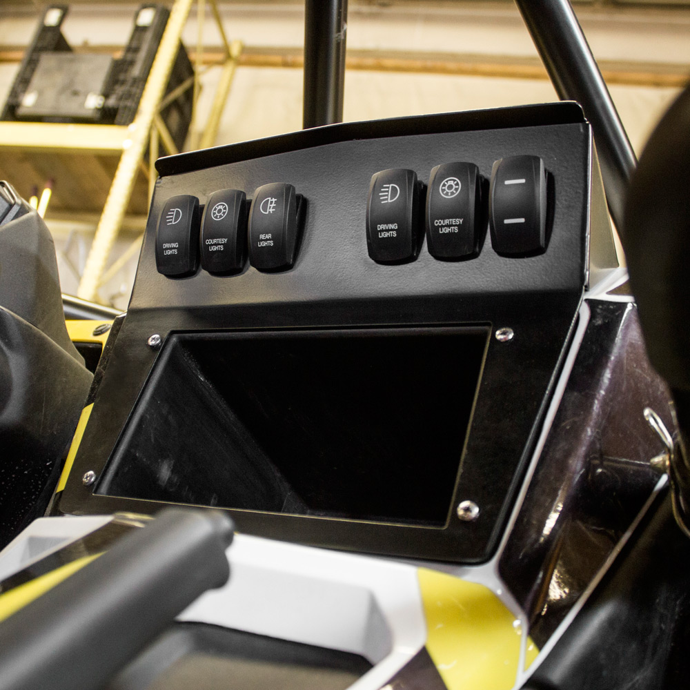 HMF Engineering IQ Defender Dash Panel Yamaha YXZ 1000R 2016-6 Slot Switch