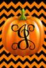 Pumpkin Chevron Monogram J Double Sided 12 X 18 Inch Garden Flag
