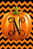 Pumpkin Chevron Monogram N Double Sided 12 X 18 Inch Garden Flag Custom Décor