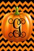 Pumpkin Chevron Monogram G Double Sided 12 X 18 Inch Garden Flag