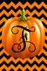 Pumpkin Chevron Monogram F Double Sided 12 X 18 Inch Garden Flag