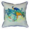 Coastal Orange Crab Art Indoor Outdoor Pillow 18 X 18 Made in the USA