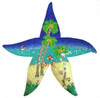 Star Fish Tropical Beach Scene Haitian Metal Wall Art