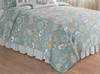 Cabana Bay Queen or Full Size Reversible Quilt 92 X 90 Inch Shells and Starfish