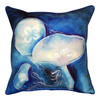 Blue Jellyfish 16 x 20 Inch Large Indoor Outdoor Pillow Betsy Drake Design