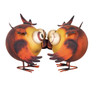 Hootie Owls Kissing Metal Figurine Tabletop Decor Regal Art and Gift