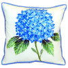 Dicks Big Blue Hydrangea Accent Throw Pillow Indoor Outdoor 18 X 18 Inches