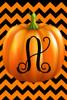 Pumpkin Chevron Monogram A Double Sided 12 X 18 Inch Garden Flag